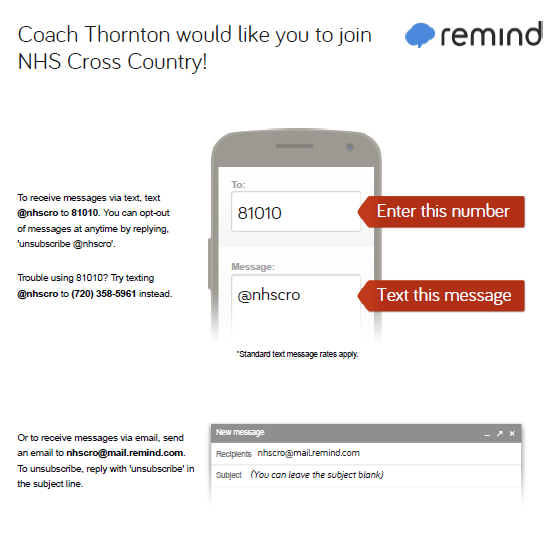 screenshot of remind app